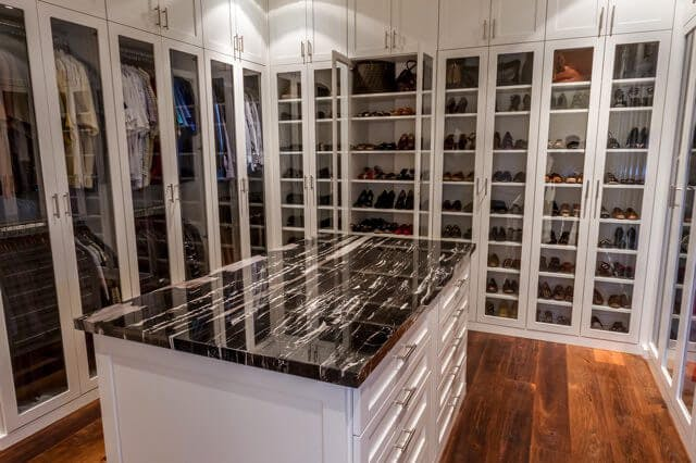Those Who Want To Admire Their Shoes But Also Need Protection Should Be  Happy To Know That They Can Get Both In A Closet Such As This Streamlined  White ...