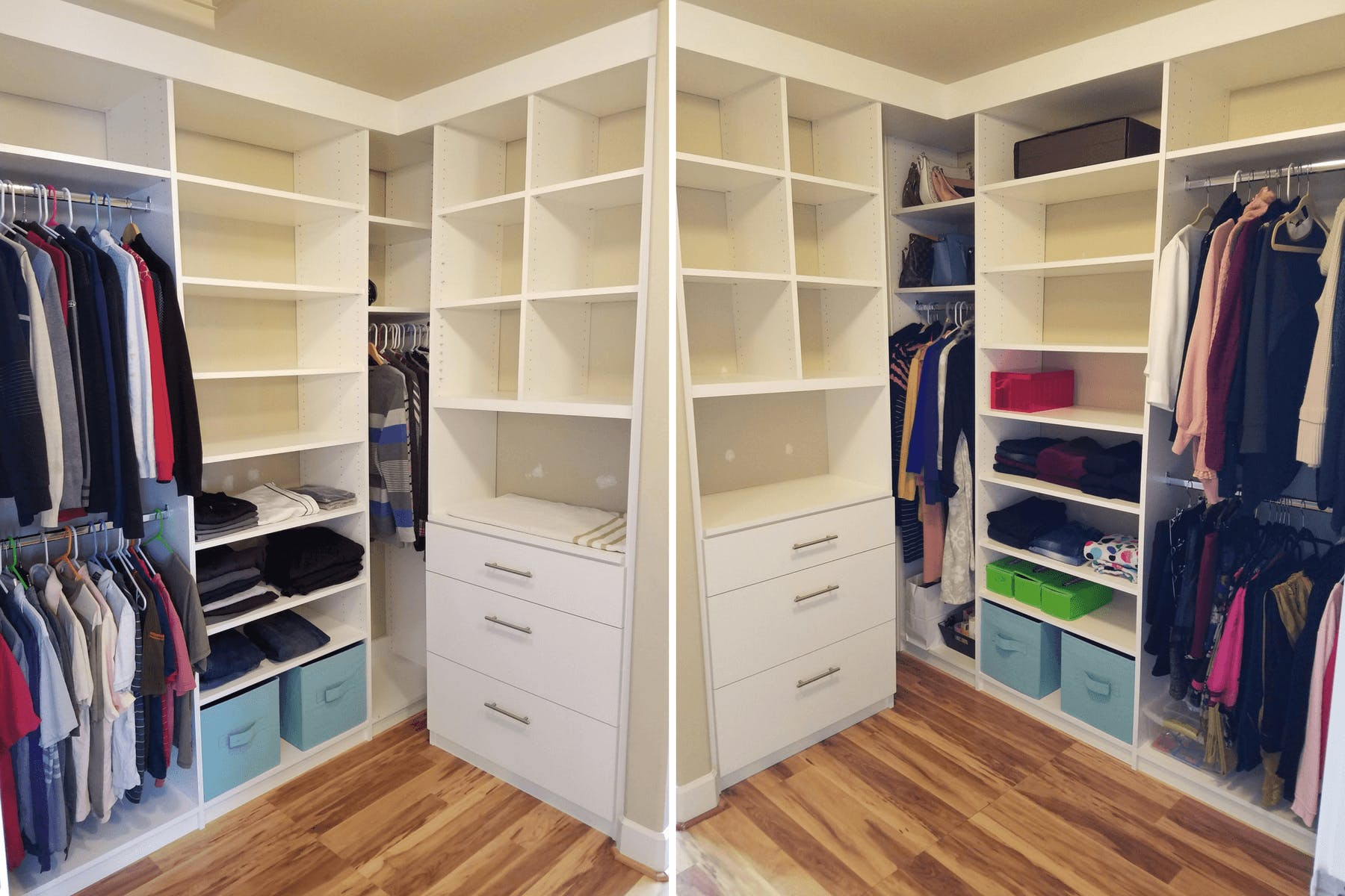 This Closet Also Incorporates Cabinets Above The Door For Storing Whatever  You Like! Oh, And Letu0027s Not Forgot About That Center Island With The  Stained ...