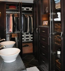 Walk-In Closet in Master Bathroom