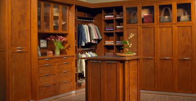 stylish shaker custom closet style