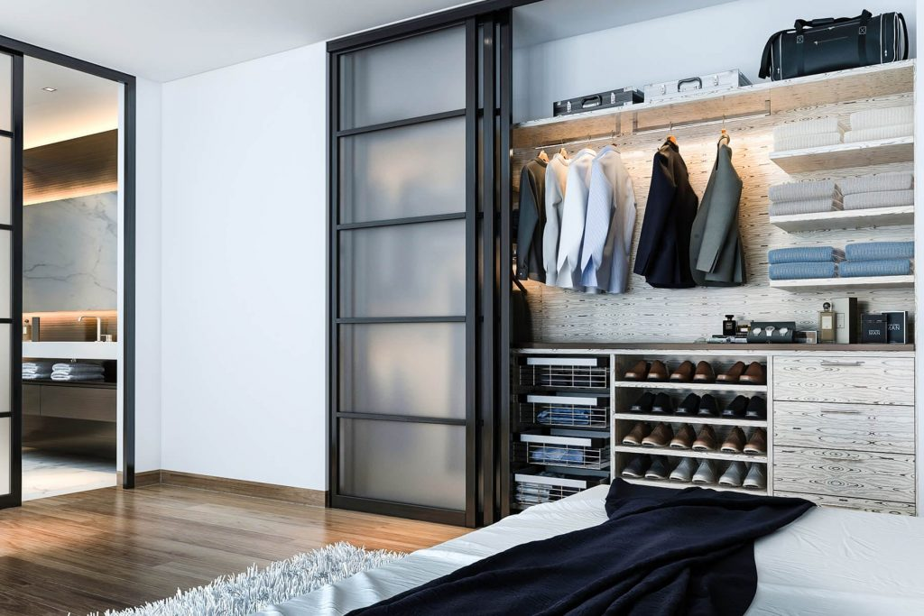 finesse closet reach-in system for men