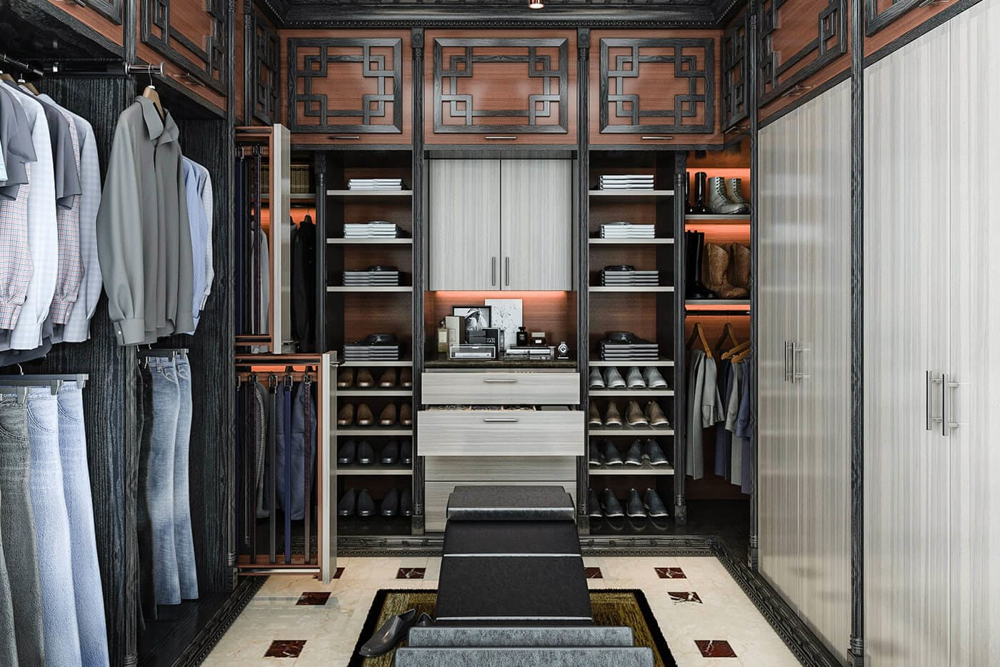 Custom closets design and install closet factory for Inspired closets