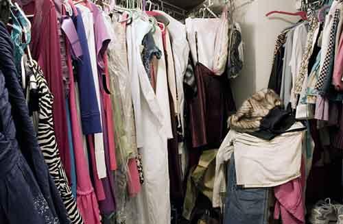 Unorganized wardrobe