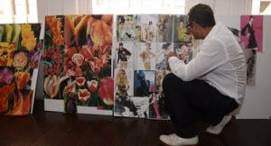 naeem khan looking at idea boards
