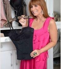 Jill Zarin holding lingerie