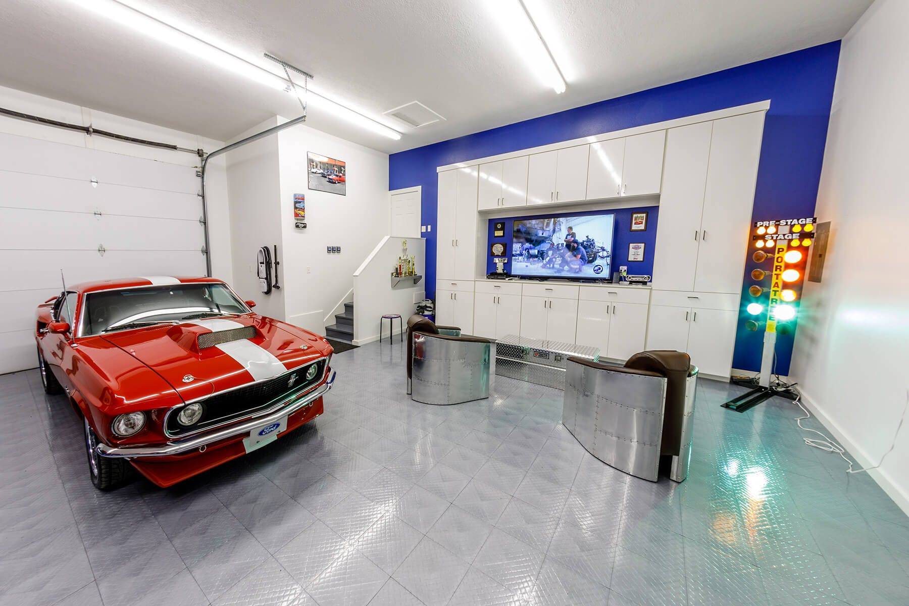 Mustang With Man Cave Tv Area Houston Garage 03