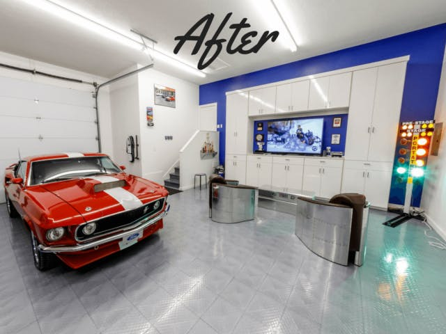 my clients lonnie and beth wright were interested in transforming both of their garages to accommodate and work on their classic car collection says - Garage Makeover