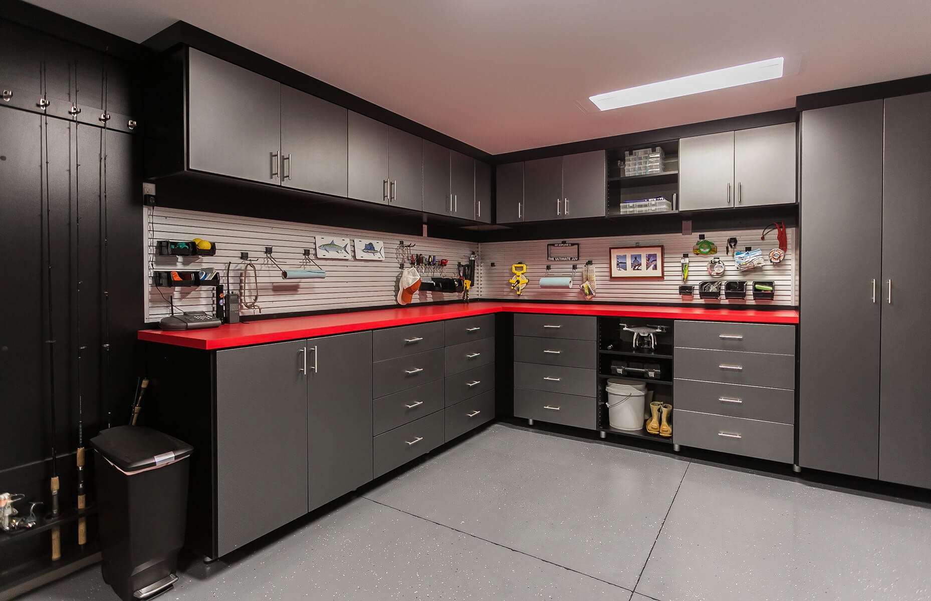 Black And Red Custom Garage Cabinets ...