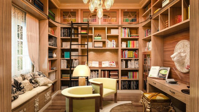 Ways To Add A Home Library Into A Small Space Closet Factory