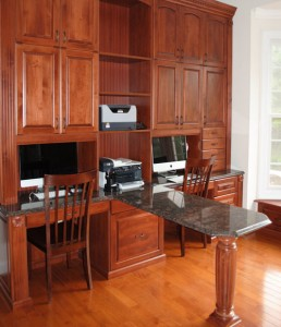 Home office for two-granite top-Closet Factory