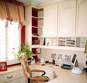 Home office-white melamine-Closet Factory