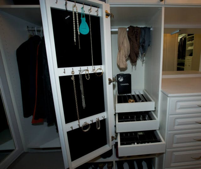 The Cabinet Doors In Your Closet Offer Valuable Vertical Storage Space If  Utilized Correctly. Incorporating Cork, Peg Boards Or A Few Hooks With  Velvet ...