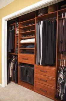 Custom Design Makeover for a Reach-in Closet
