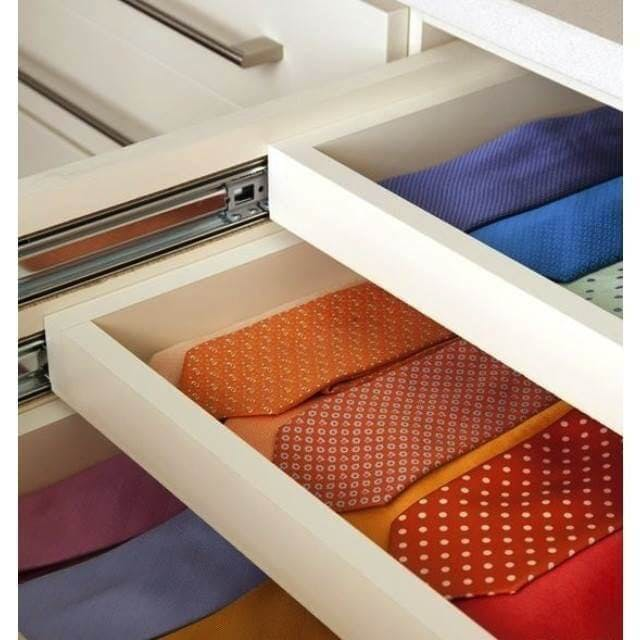 With Sliding Tie Shelves, Ties Can Be Laid Flat And Adjacent To One  Another. Since These Shelves Are Built Right Into The Closet, They Stay  Flush With The ...