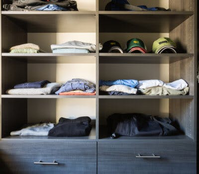 A Custom Closet Solution for an Unconventional Space