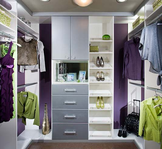 contemporary-melamine-closet - walk in