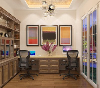 Custom Office Design Trends: Transitional Style