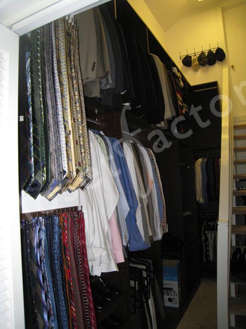 Closet System Solution For A Unique Closet Space