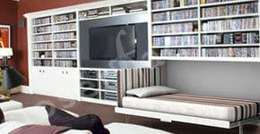 Trends In Built-in Wall Units and Media Centers for the Family Room