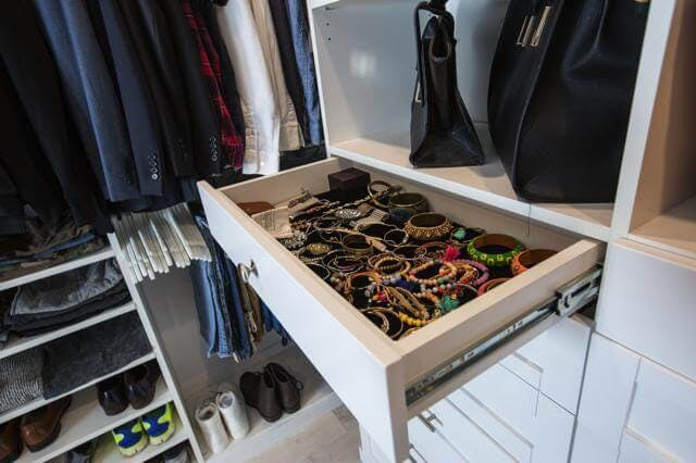 Although the meat and bones of a closet lies in its storage system, accessories help accentuate functionality and fun.