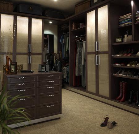 Custom Closet Design Style – Expresso Modern