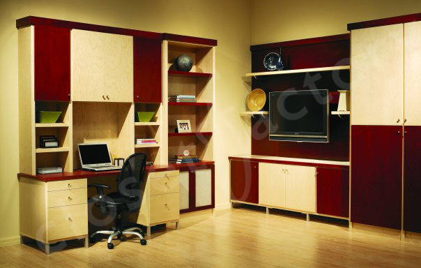 Clutter-Free Organized Custom Home Office by Closet Factory