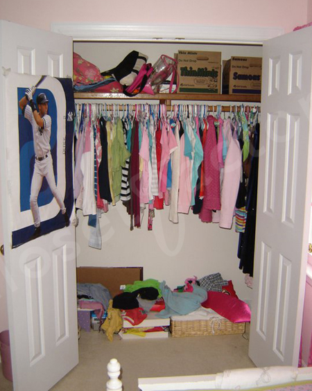 kids closet organizer closet organizer systems before amp after closet 12085