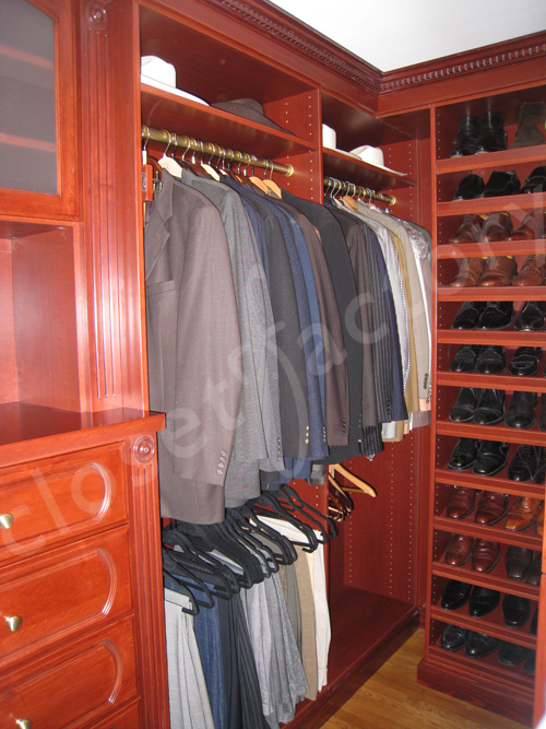 All Clothing Is Now Easy To Find In This Menu0027s Walk In Closet Organizer