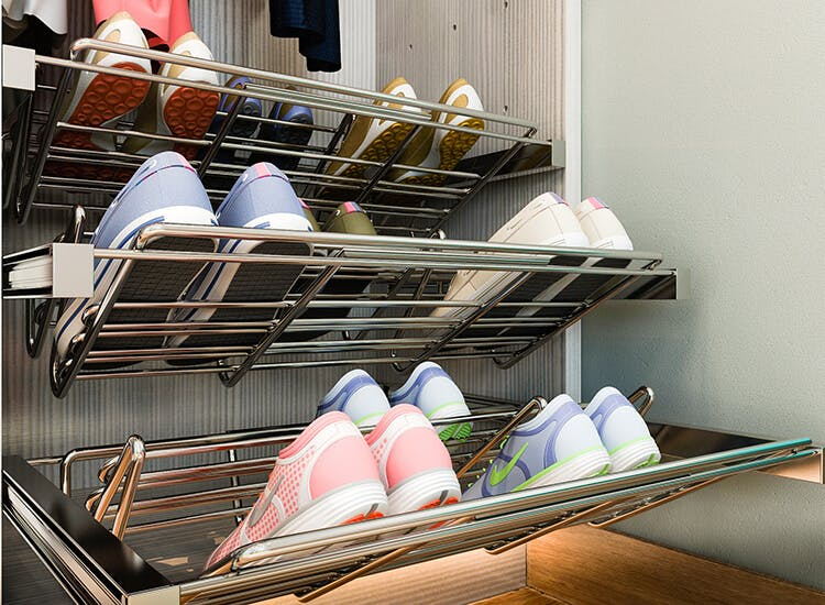 pullout shoe rack for closet