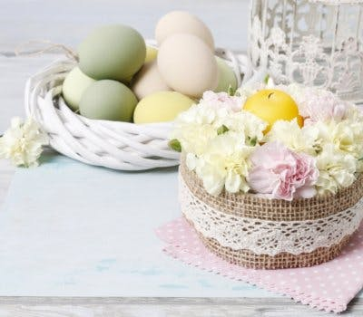 A DIY Shabby-Chic Easter Centerpiece You'll Keep All Spring Long