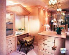 Closet with vanity