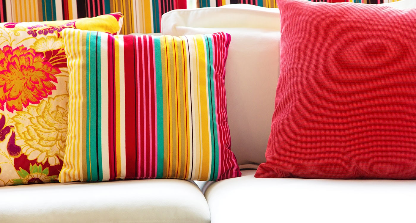 Bench Cushions In Bright Colors