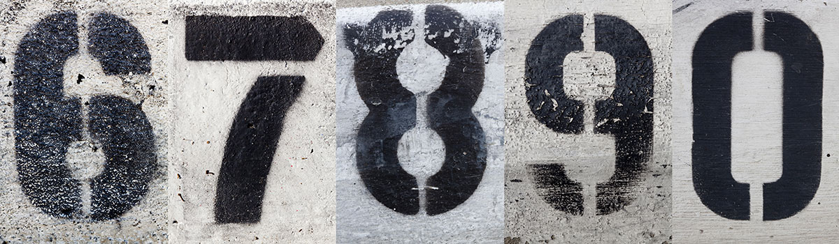 number wall stencils