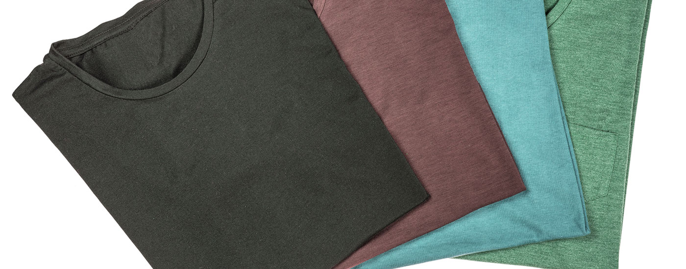 neatly folded tee shirts