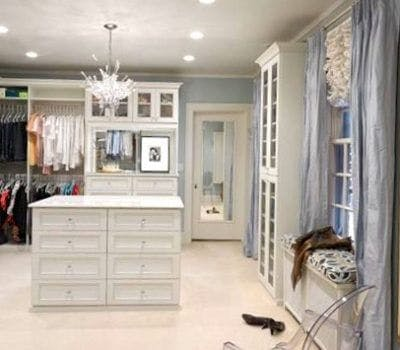 Transform Your Walk-In Closet Into A Woman Cave