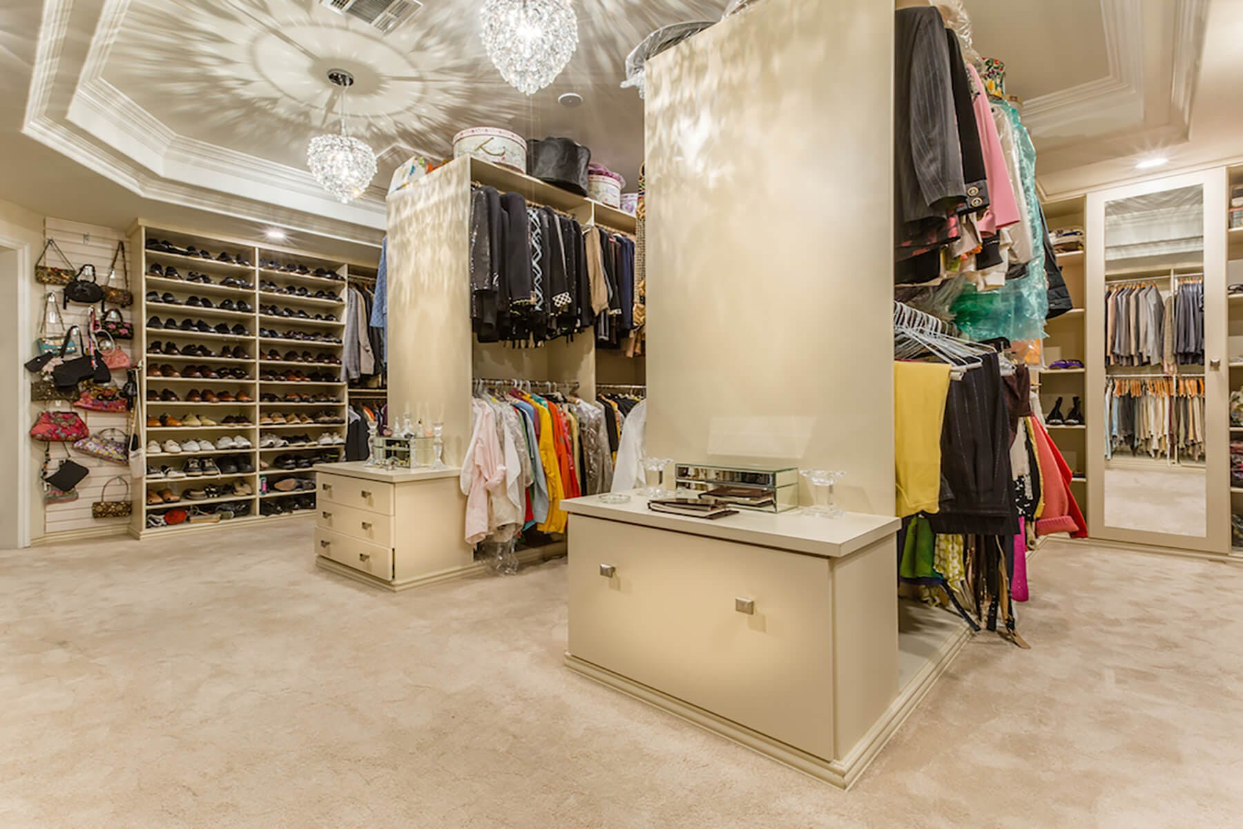 Custom closets closet organization design closet factory - Storage for bedrooms without closets ...