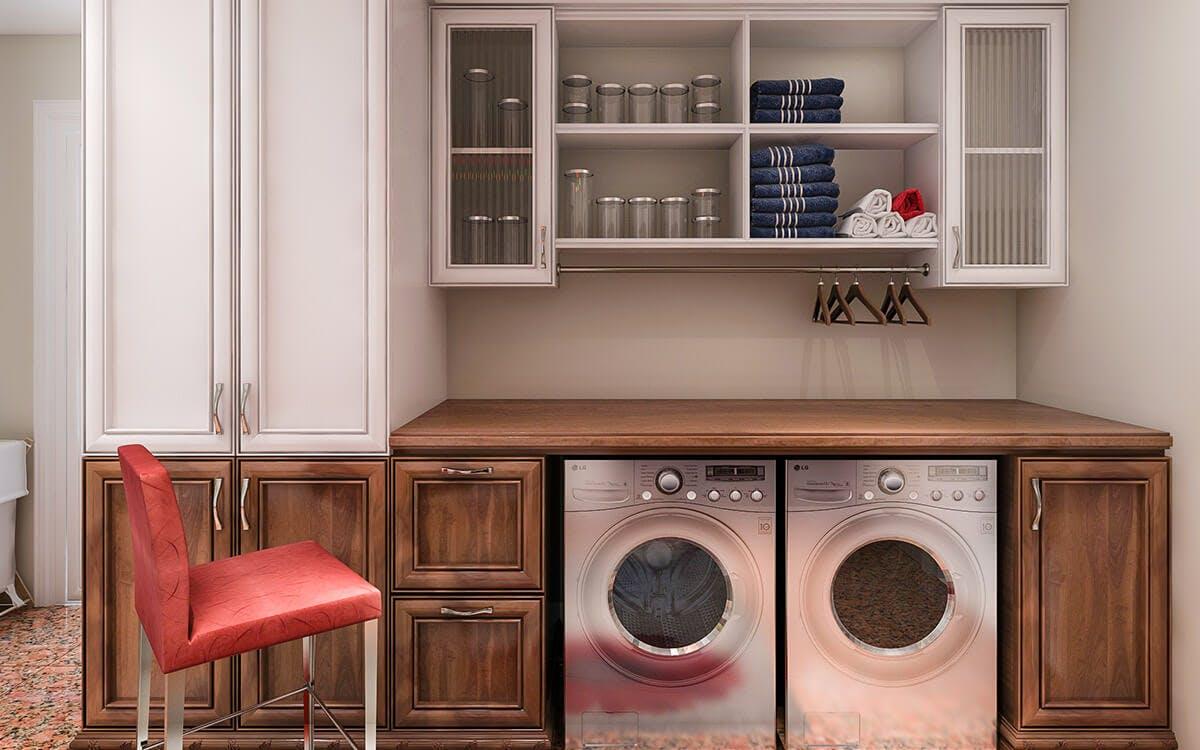 laundry room cabinets makeover design ideas closet factory. Black Bedroom Furniture Sets. Home Design Ideas