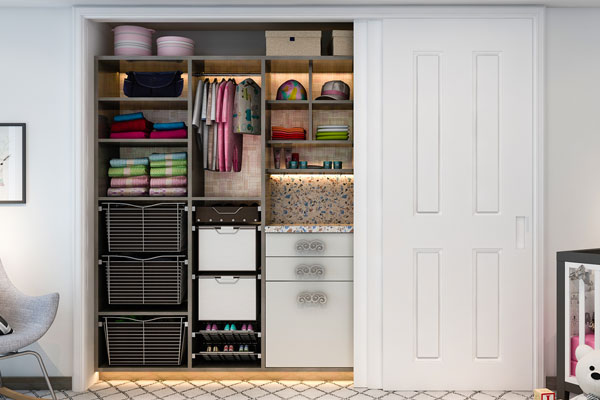 Genial ... Adjustable Baby Closet With Built In Hampers And Counter