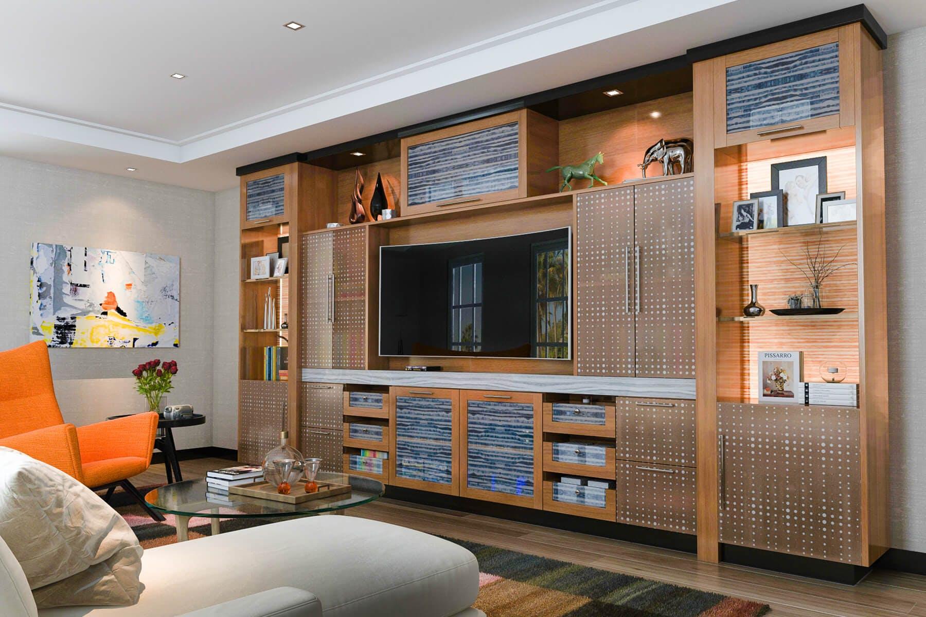 Entertainment Centers | Custom Built-in Cabinets | Closet ...