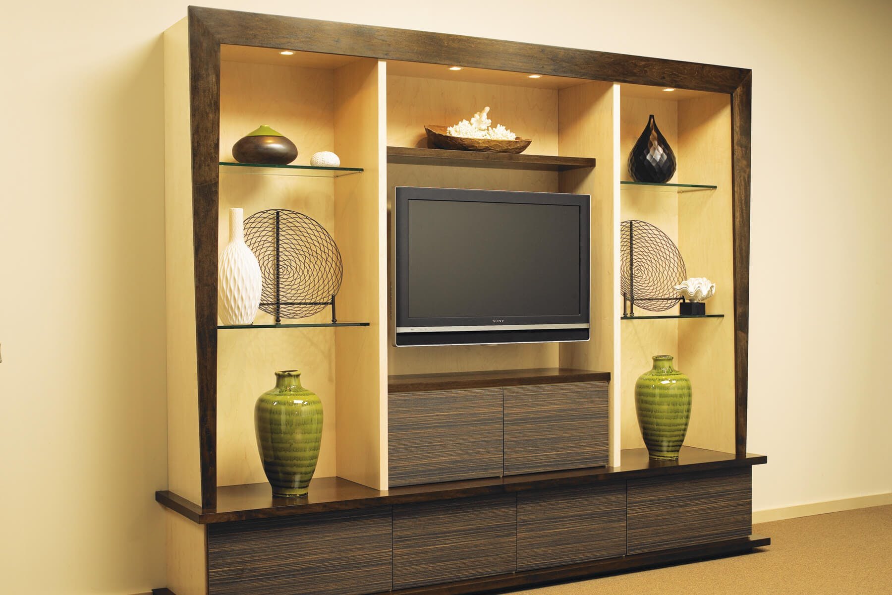 Entertainment Centers | Custom Built-in Cabinets | Closet Factory