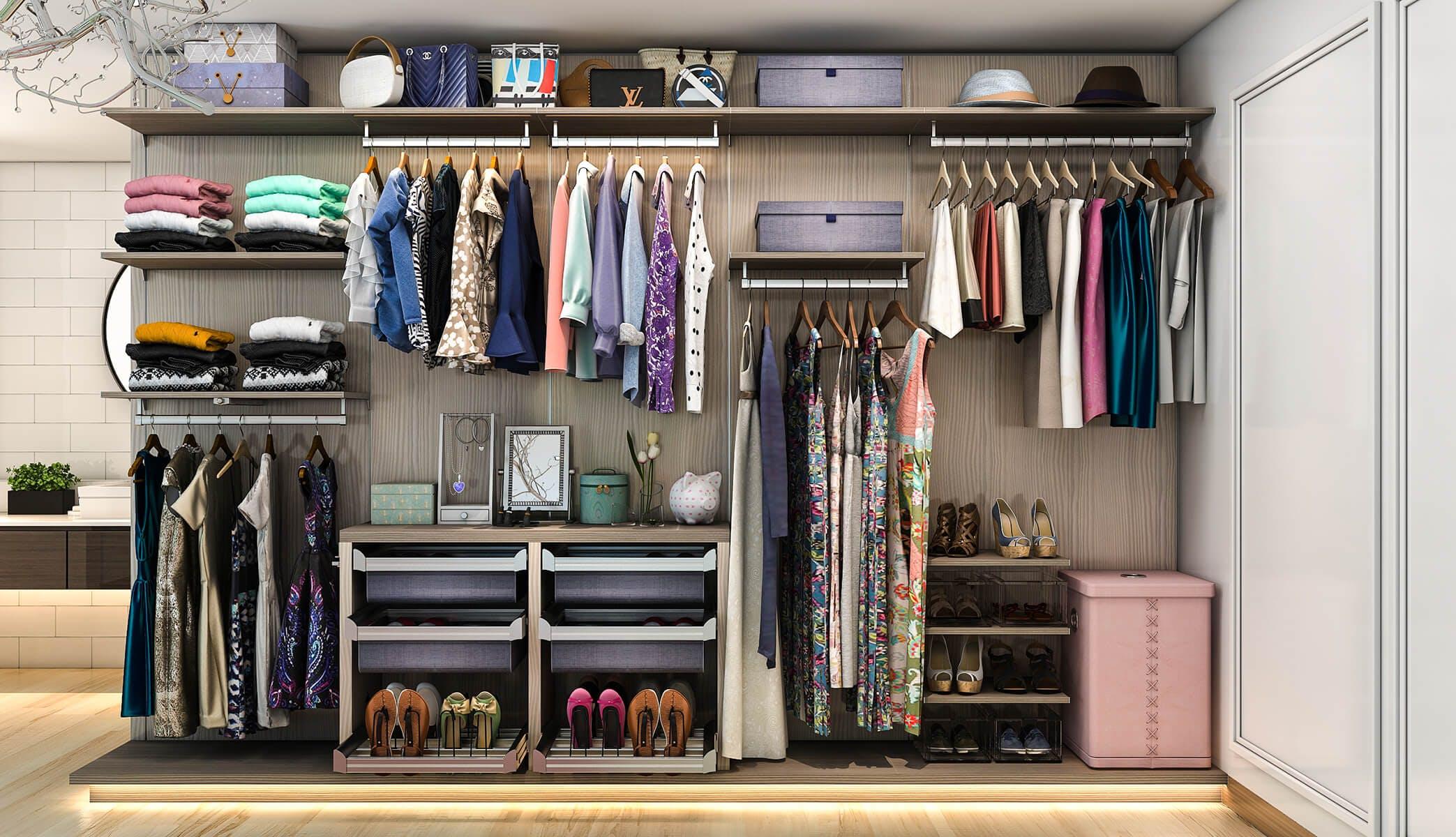 Closet factory custom closet design for 1800 closets