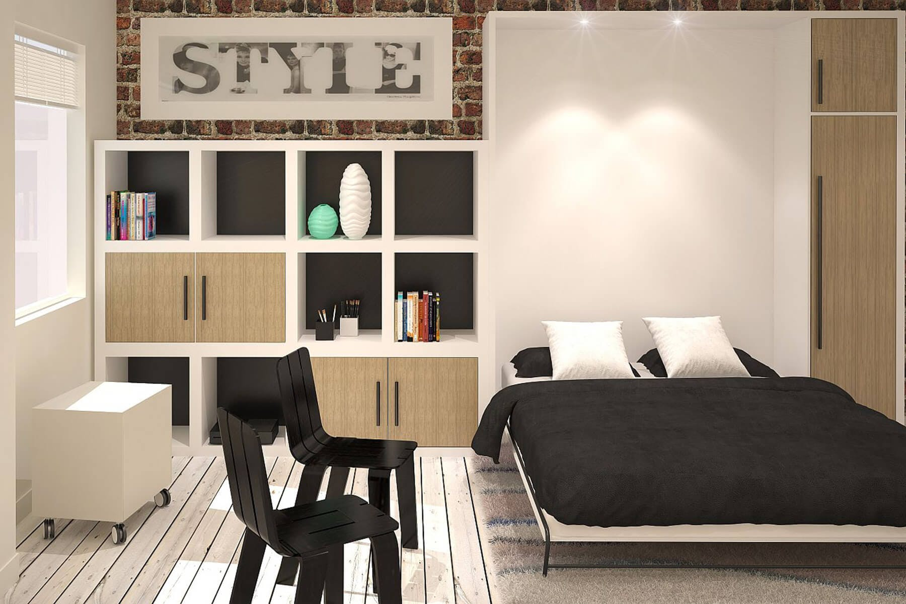 Modern Wall Bed. Modern Wall Bed Design Open