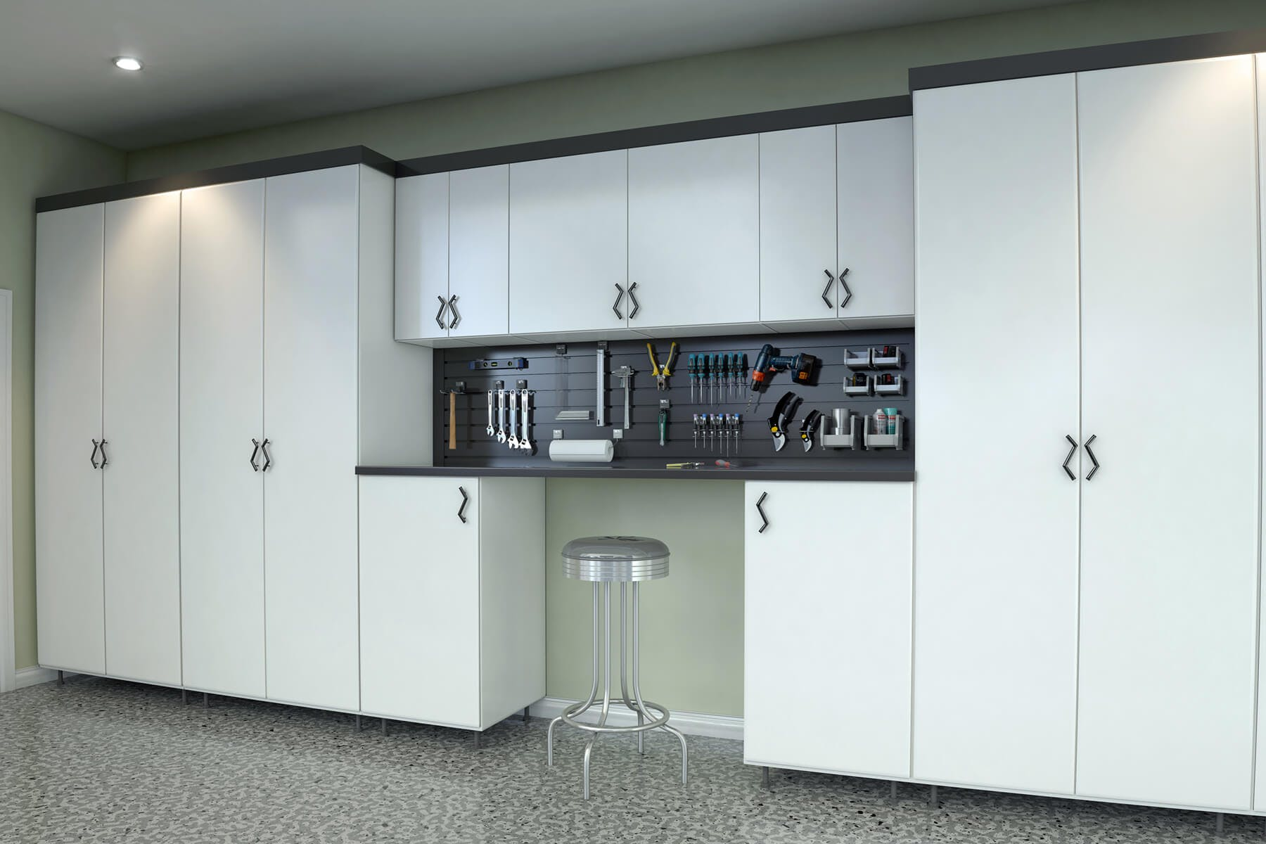 Garage Storage Cabinets Design And Install Closet Factory