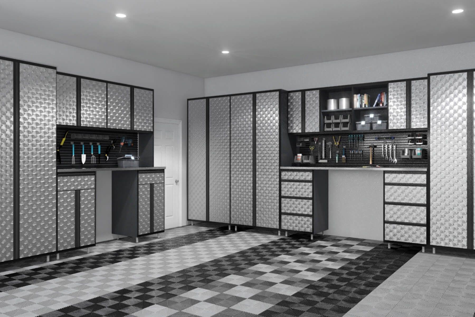 Metal Finished Garage Cabinets ...