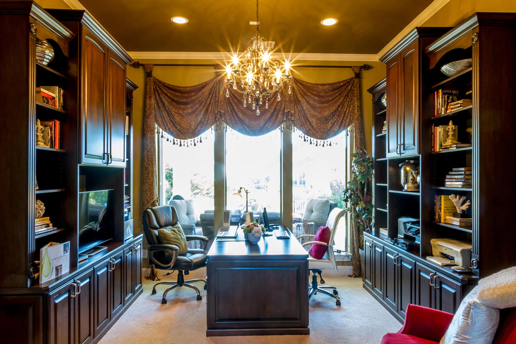 Luxury Houston Home Office Black Wood ...