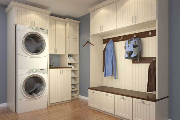 Combo Mudroom And Laundry Space Cabinets Combo Mudroom And Laundry Space  Cabinets