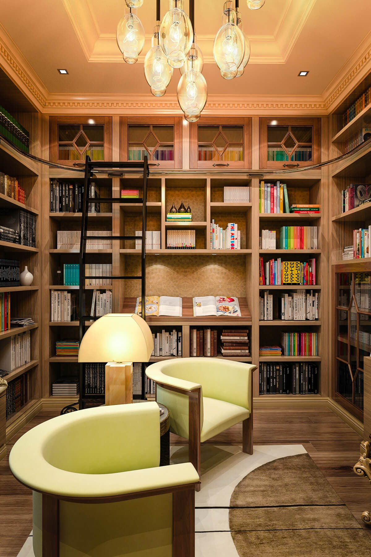 Small Home Library Design: Home Library Cabinets
