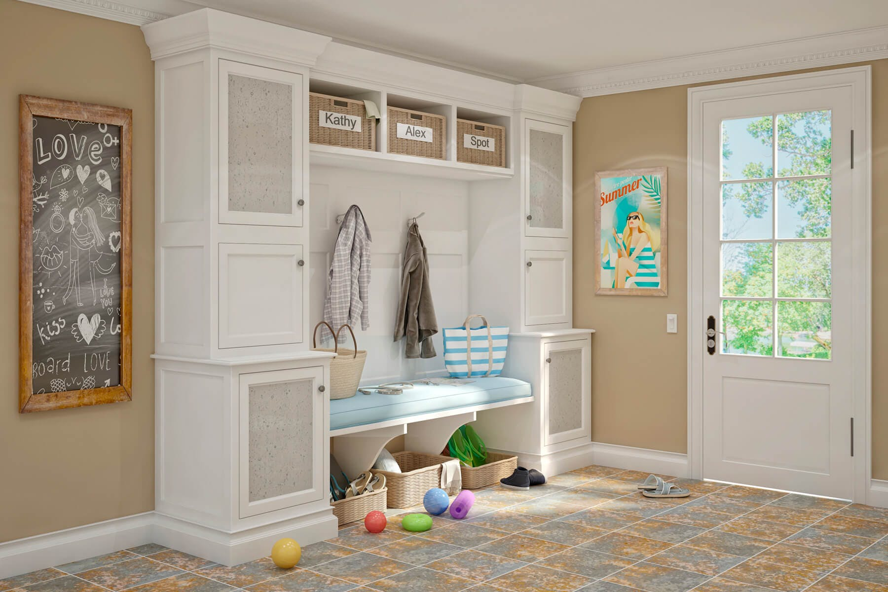 Painted Mudroom Room In Entry 3