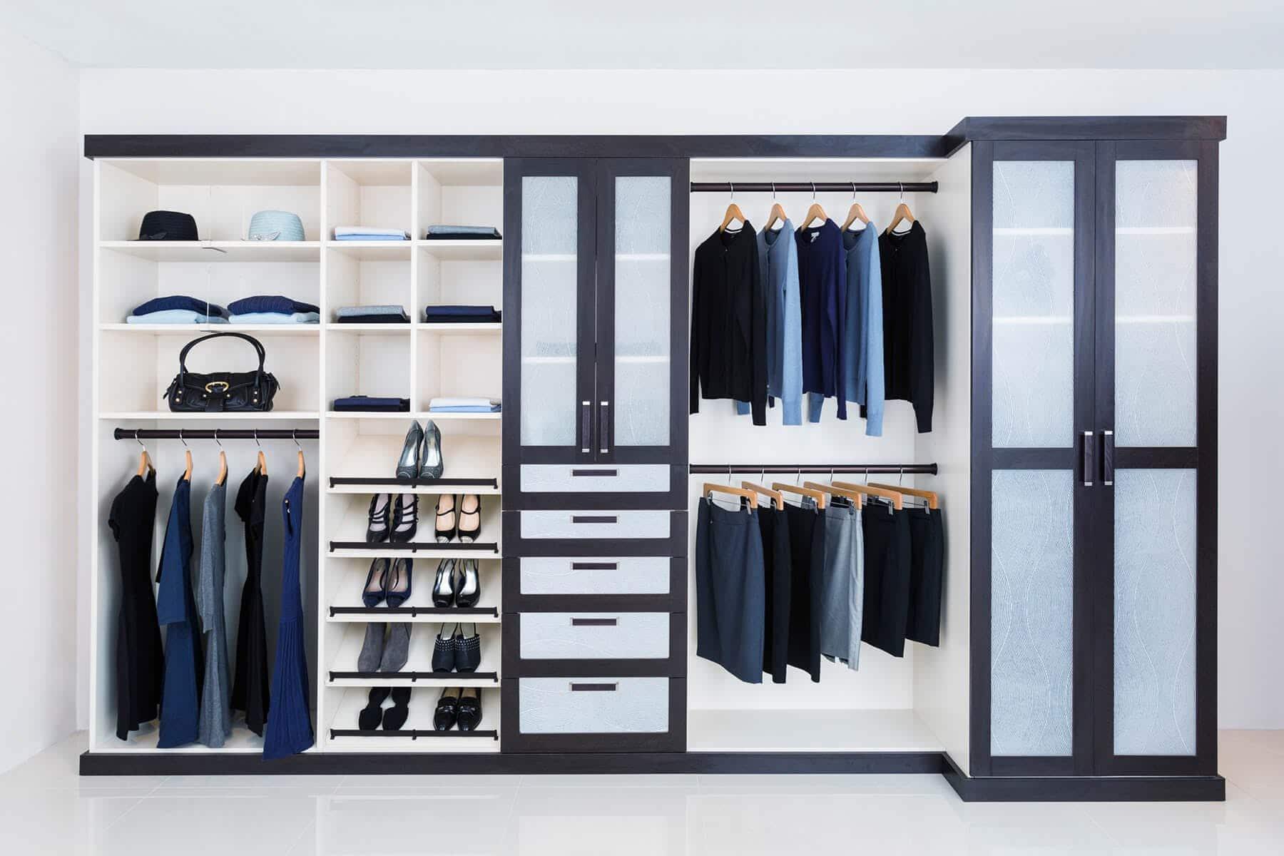 Melamine And Wood Closet System ...
