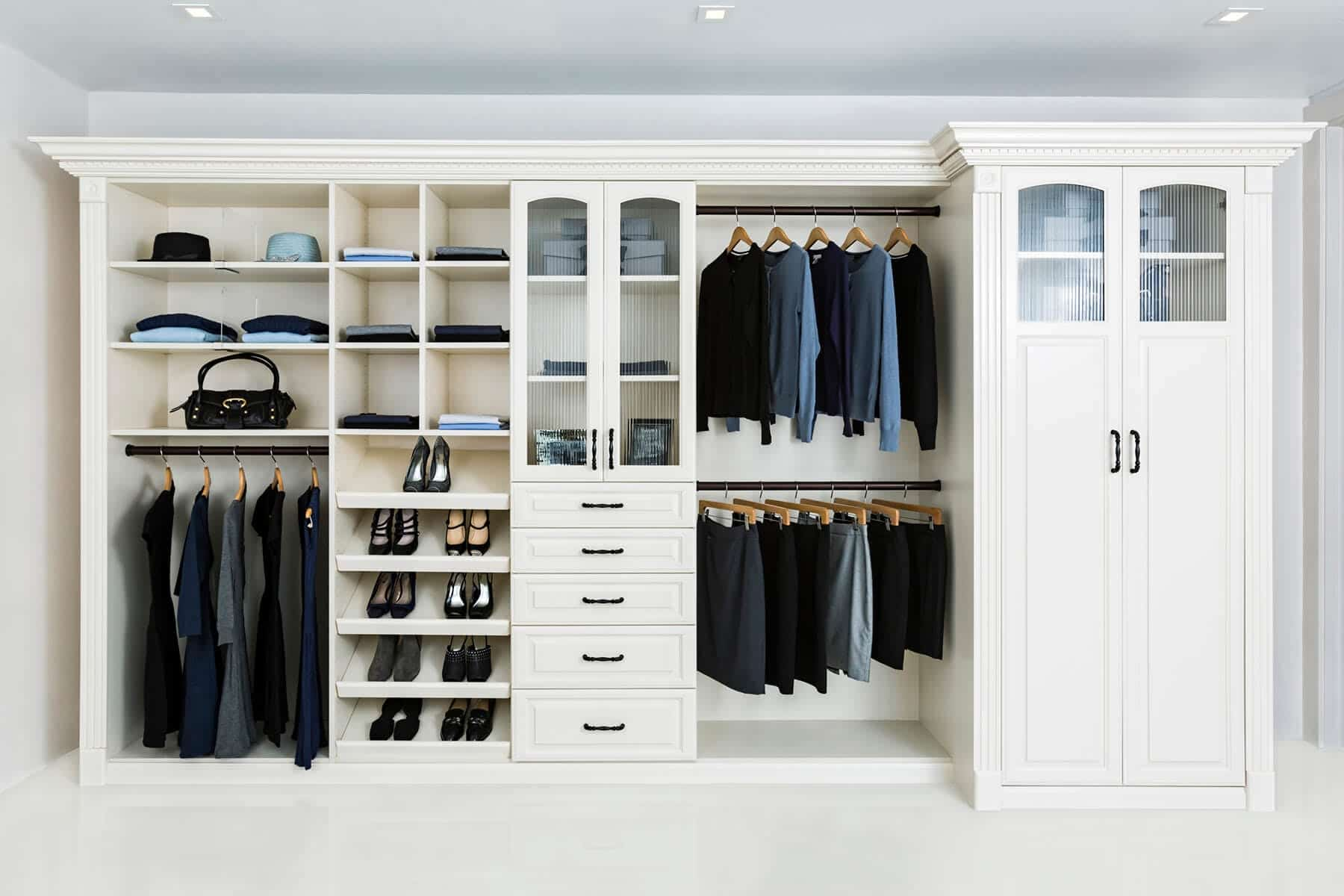 Painted Bedroom Wall Unit For Wardrobe ...